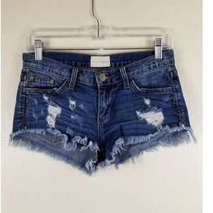 Giled Intent Distressed Shorts Sz 25